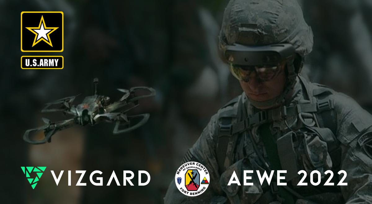 aewe 2022 vizgard drone us army ai